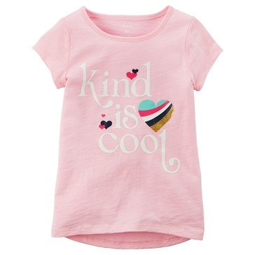Carter's Toddler Girls' Kind Is Cool Tee, Light Pink