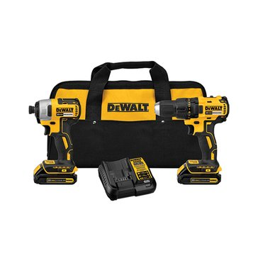 Dewalt 20V MAX Compact Brushless Drill and Impact Combo Kit (DCK277C2)