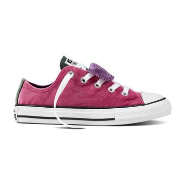 Converse Chuck Taylor All Star Velvet Girls Double Tongue Sneaker Pink Sapphire