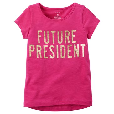 Carter's Little Girls' Future Pres Tee, Pink