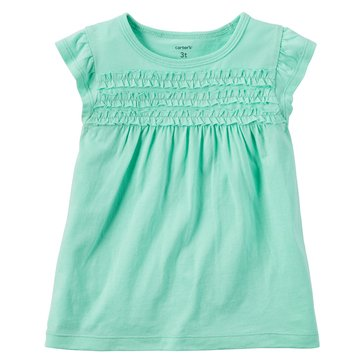 Carter's Little Girls' Smock Bodice Top, Mint