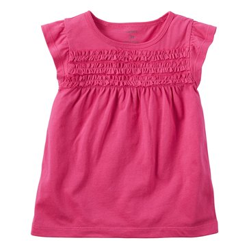 Carter's Little Girls' Smock Bodice Top, Pink