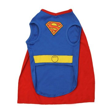 Superman With Cape Dog Costume, Large
