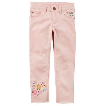Carter's Toddler Girls' Twill Pant, Pink