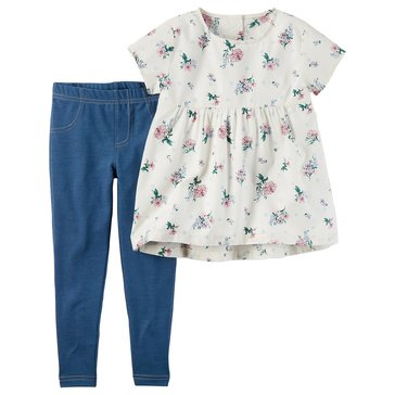 Carter's Toddler Girls' 2-Piece Woven Legging Set