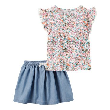 Carter's Toddler Girls' 2-Piece Skirt Set
