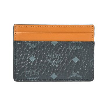 MCM Claus Mini Card Case Wallet Black