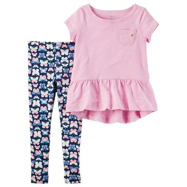 Carter's Little Girls' 2-Piece Knit Legging Set, Pink
