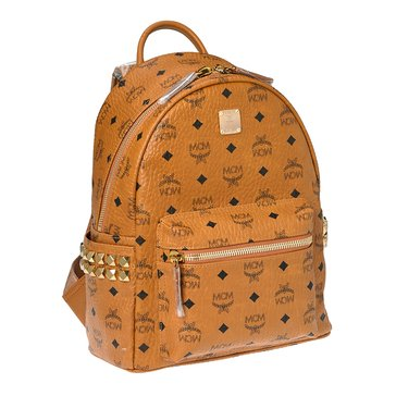 MCM Stark Small Side Stud Backpack Cognac