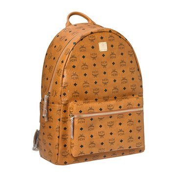 MCM Stark Medium Backpack Cognac