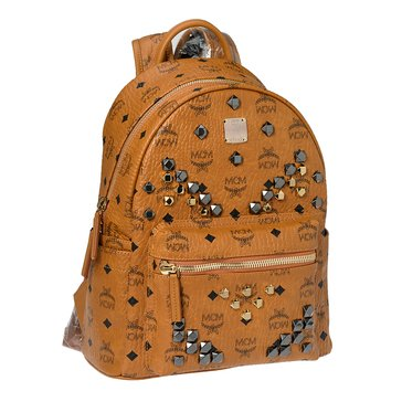 MCM Small Stark Backpack Cognac