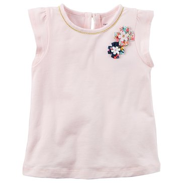 Carter's Little Girls' Solid Top, Light Pink