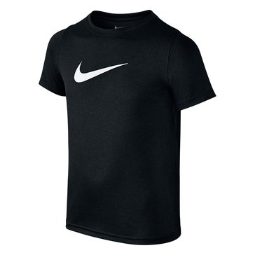 Nike Big Boys' Dry Swoosh Tee, Black