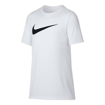Nike Big Boys' Dry Swoosh Tee, White