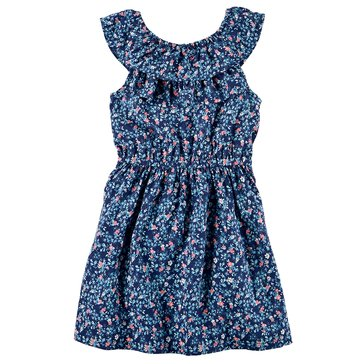 Carter's Little Girls' Woven Peasant Dress