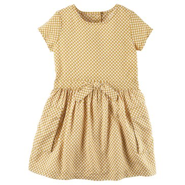 Carter's Little Girls' Print Woven Dress