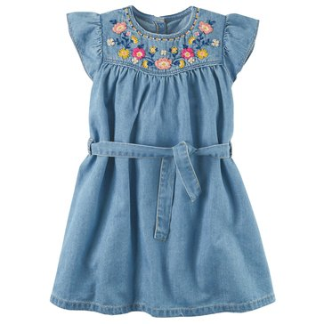 Carter's Little Girls' Denim Dress