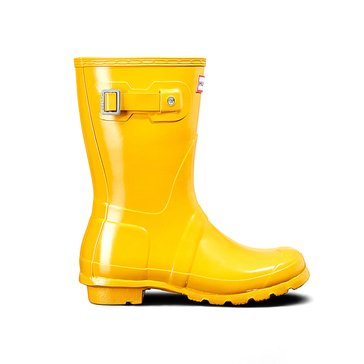 Hunter Women's Original Short Gloss Rainboot Yellow