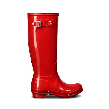 Hunter Women's Original Tall Gloss Rainboot Military Red