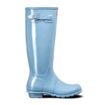 Hunter Women's Original Tall Gloss Rainboot Pale Blue