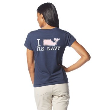 Vineyard Vines I Whale US Navy Short Sleeve Tee in Navy Ground
