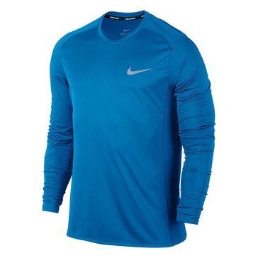 Nike Men's Dry Miler Long Sleeve Tee - Light Photo Blue