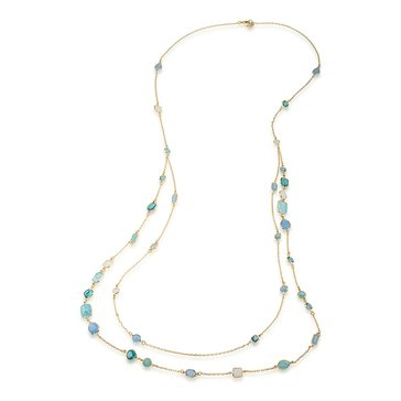 Carolee Crackled Stones Illusion Necklace