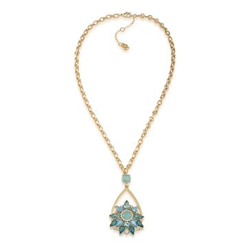 Carolee Crackled Stones Pendant Necklace