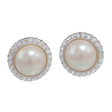 Carolee The Paula Button Clip On Earrings