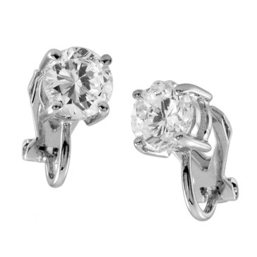 Carolee The Sonia Round CZ Stud Clip On Earrings