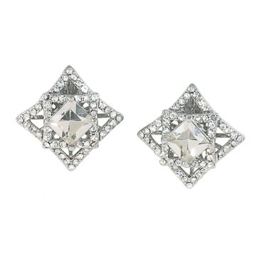 Carolee The Kiera Clear Crystal Clip On Earrings