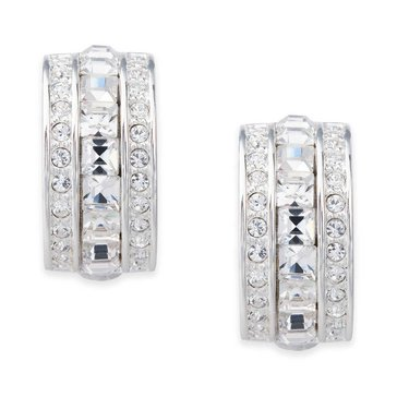 Carolee The Cheryl Square Cut Crystal Clip On Earrings