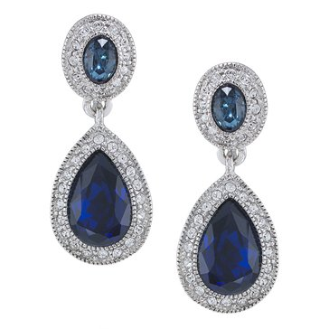 Carolee The Bethany Crystal Drop Clip On Earrings