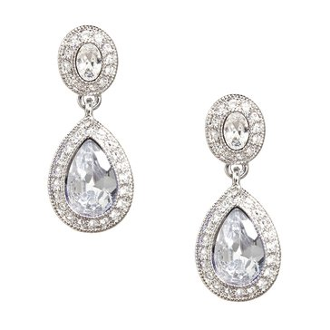 Carolee The Jessica Crystal Drop Pierced Earrings