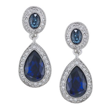 Carolee The Bethany Crystal Drop Pierced Earrings