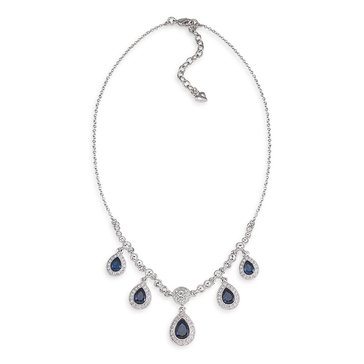 Carolee The Phoebe Blue Crystal Teardrop Necklace