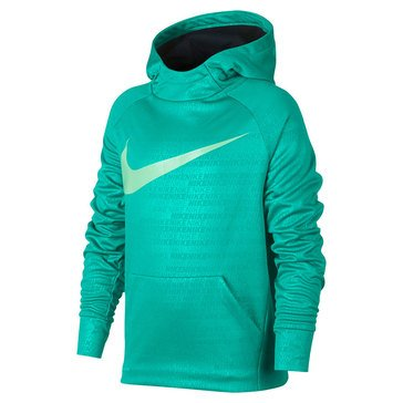 Nike Big Boys' Therma Hoodie, Neptune Green