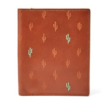Fossil Gifts RIFD Kenny Passport Case - Brown Cactus
