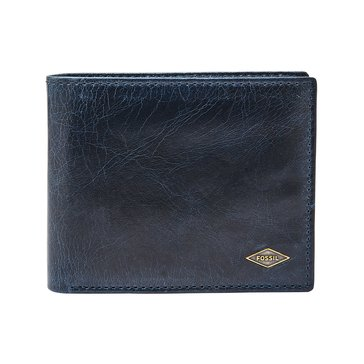Fossil Wallet - RFID Ryan Card Case Bifold -Navy