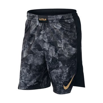 Nike Men's Elite LeBron Shorts - Grey Print