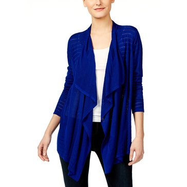 INC International Concepts Pointelle FG Cardigan in Goddess Blue