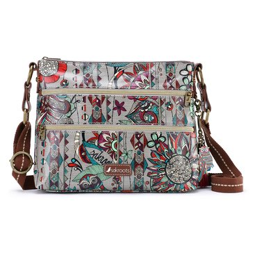 Sakroots Basic Crossbody Charcoal Spirit Desert