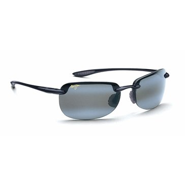 Maui Jim Unisex Sandy Beach Polarized Sunglasses 408-02, Gloss Black 56mm