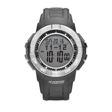 Armitron Men's Adventure Digital Watch AD/1010BLK, Black Resin 52.5mm