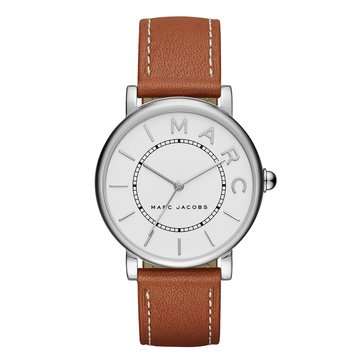Marc Jacobs Women's The Roxy Watch MJ1571, Stainless Steel/ Brown Leather 36mm