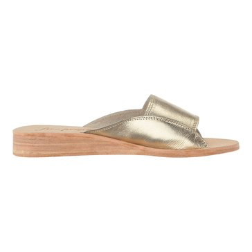 Free People Daybird Mini Wedge Women's Slide Sandal Gold