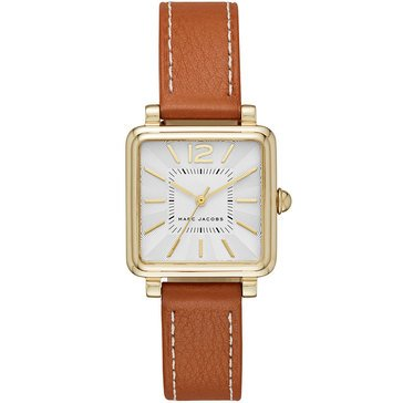 Marc Jacobs Women's Vic Watch MJ1573, Gold/ Brown Leather 30mm