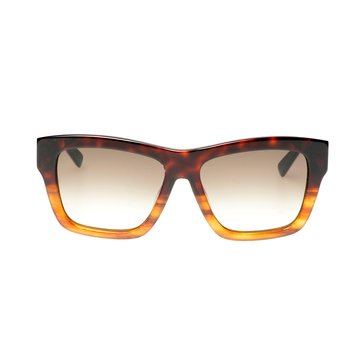 MCM Women's Sunglasses MCM607S, Red Havana/ Striped Cognac 56mm