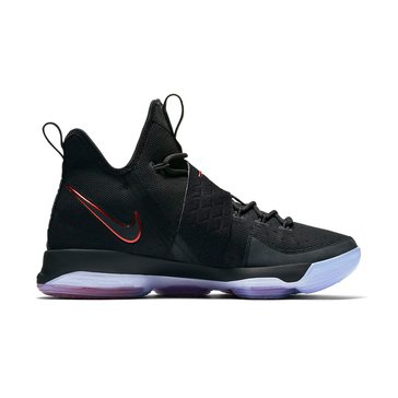 Nike LeBron XIV Men's Basketball Shoe - Black / Black / University Red
