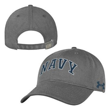 Under Armour Arched Navy Garment Washed Graphite Hat